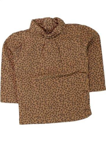 T-shirt col roulé fille KIABI marron 9 mois hiver #1462730_1