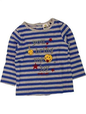 T-shirt manches longues garçon SMILEY gris 6 mois hiver #1462788_1