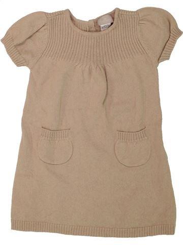 Vestido niña CYRILLUS marrón 12 meses invierno #1462982_1