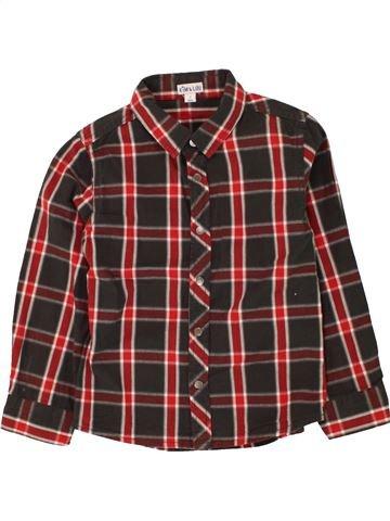 Chemise manches longues garçon KIM & LOU marron 5 ans hiver #1463187_1