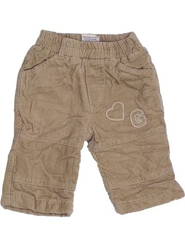 Pantalon fille DOPODOPO beige 3 mois hiver #1463211_1