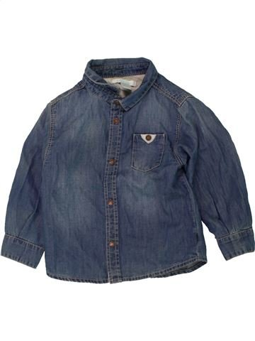 Chemise manches longues garçon OKAIDI bleu 18 mois hiver #1463347_1