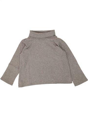 T-shirt col roulé garçon PETIT BATEAU gris 4 ans hiver #1463485_1