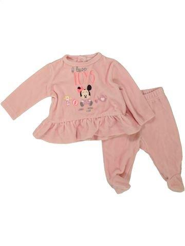 Pyjama 2 pièces fille DISNEY rose 1 mois hiver #1463941_1