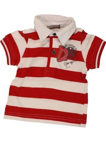 Polo manches courtes garçon ORCHESTRA rouge 6 mois été #1464178_1