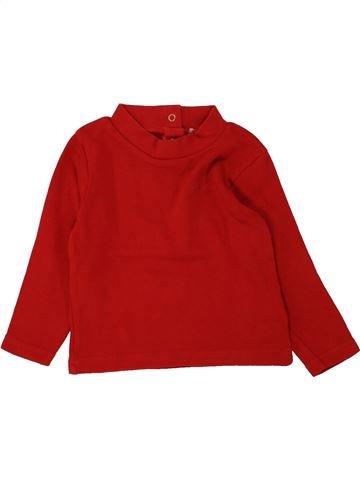T-shirt manches longues garçon ORCHESTRA rouge 2 ans hiver #1464598_1