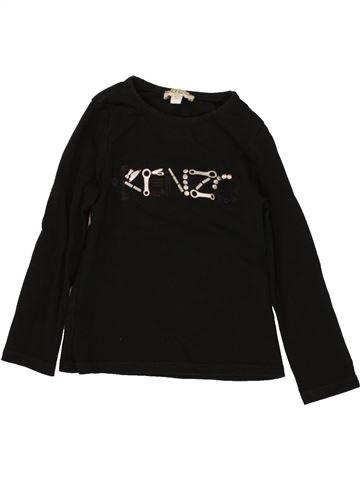 T-shirt manches longues fille KENZO noir 3 ans hiver #1464654_1