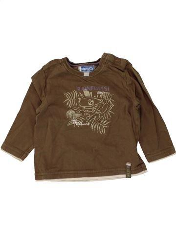 T-shirt manches longues garçon JBC marron 6 mois hiver #1464935_1
