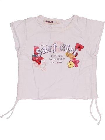 T-shirt manches courtes fille BAKKABOE blanc 3 mois été #1464982_1