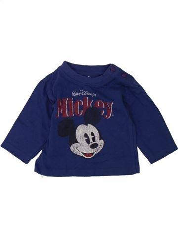 T-shirt manches longues garçon DISNEY bleu 1 mois hiver #1465169_1