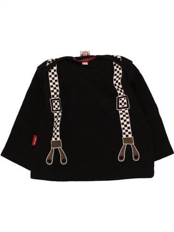 T-shirt manches longues garçon OH BABY LONDON noir 3 mois hiver #1465280_1