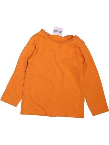 T-shirt manches longues fille TOPOMINI orange 3 ans hiver #1465977_1