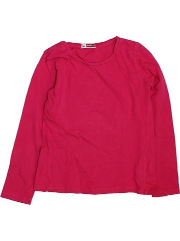 T-shirt manches longues fille DPAM rose 6 ans hiver #1466363_1
