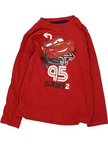 T-shirt manches longues garçon DISNEY rouge 6 ans hiver #1466381_1