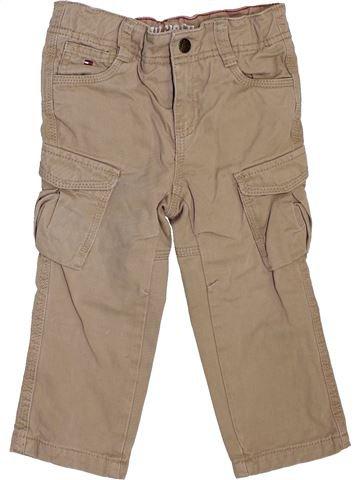 Pantalon garçon TOMMY HILFIGER beige 2 ans hiver #1466587_1