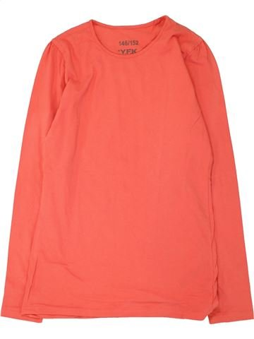 T-shirt manches longues fille YFK rose 12 ans hiver #1467054_1