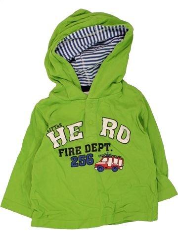 T-shirt manches longues garçon TOPOMINI vert 12 mois hiver #1467138_1