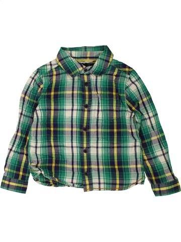 Chemise manches longues garçon JOHN LEWIS vert 3 ans hiver #1467933_1