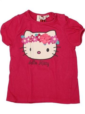 T-shirt manches courtes fille HELLO KITTY rose 18 mois été #1468294_1