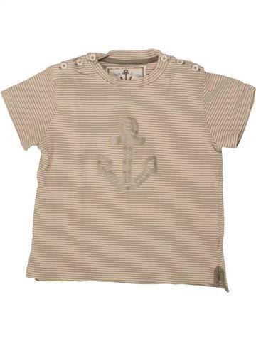 T-shirt manches courtes garçon CHATEAU DE SABLE beige 3 ans été #1468534_1
