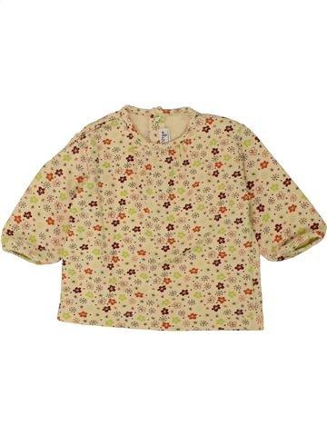 T-shirt manches longues fille SUCRE D'ORGE beige 6 mois hiver #1469075_1