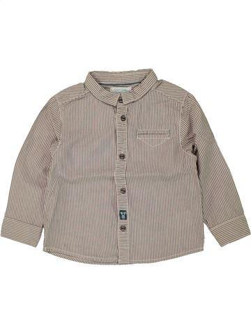 Chemise manches longues garçon OBAIBI gris 2 ans hiver #1469821_1