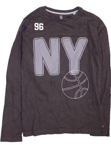 T-shirt manches longues garçon OKAIDI gris 12 ans hiver #1470635_1