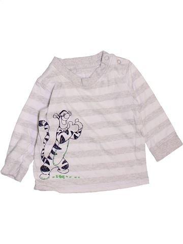 T-shirt manches longues garçon GEORGE blanc 6 mois hiver #1470899_1