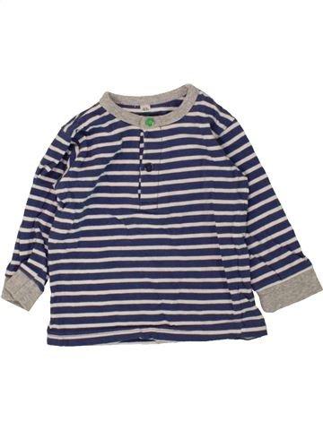 T-shirt manches longues garçon ZEEMAN blanc 6 mois hiver #1470916_1