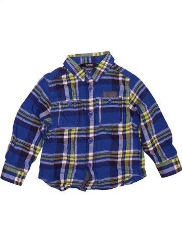 Chemise manches longues garçon GEORGE bleu 18 mois hiver #1471868_1