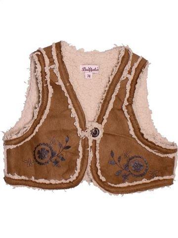 Gilet fille BAKKABOE marron 12 mois hiver #1472816_1