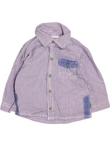 Chemise manches longues garçon ERGEE violet 12 mois hiver #1472971_1