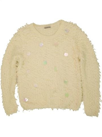 Pull fille I LOVE GIRLSWEAR beige 11 ans hiver #1473132_1