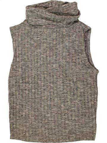 T-shirt col roulé fille NEW LOOK gris 13 ans hiver #1473963_1