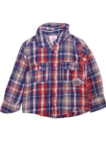 Chemise manches longues garçon URBAN RASCALS violet 3 ans hiver #1474606_1