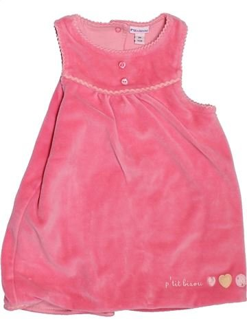 Vestido niña P'TIT BISOU rosa 9 meses invierno #1474987_1