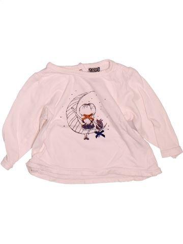 T-shirt manches longues fille TAPE À L'OEIL rose 3 mois hiver #1475049_1