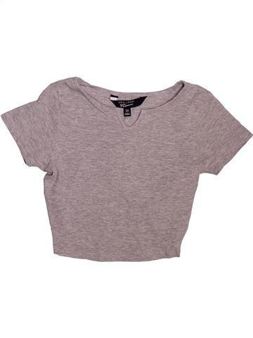 T-shirt manches courtes fille NEW LOOK gris 9 ans été #1475665_1