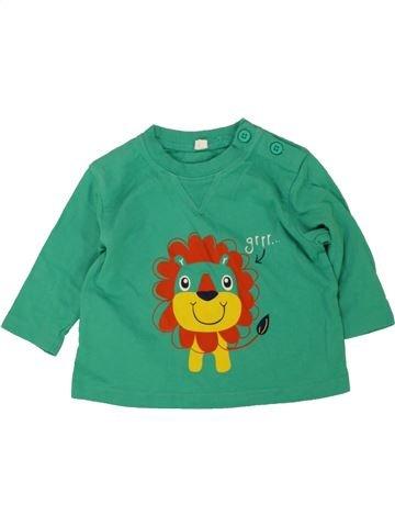 Camiseta de manga larga niño SANS MARQUE verde 3 meses invierno #1476282_1