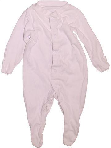 Pyjama 1 pièce unisexe TU blanc 3 mois été #1477674_1