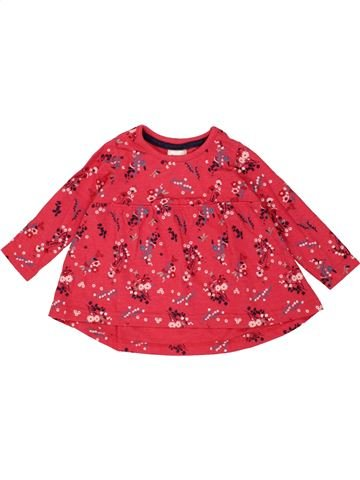 T-shirt manches longues fille BABY rose 6 mois hiver #1478721_1