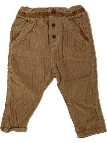Pantalon garçon OKAIDI marron 6 mois hiver #1479890_1