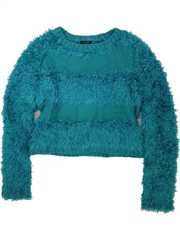 Pull fille KYLIE vert 12 ans hiver #1480059_1