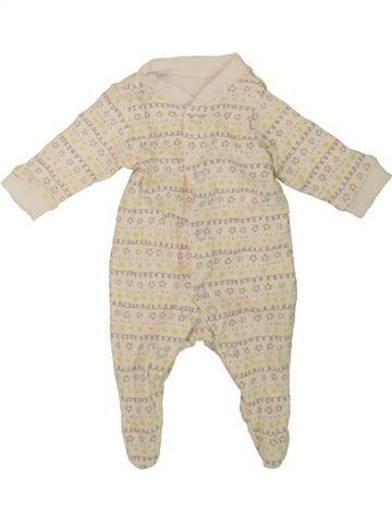 Pyjama 1 pièce garçon F&F beige prématuré été #1482376_1