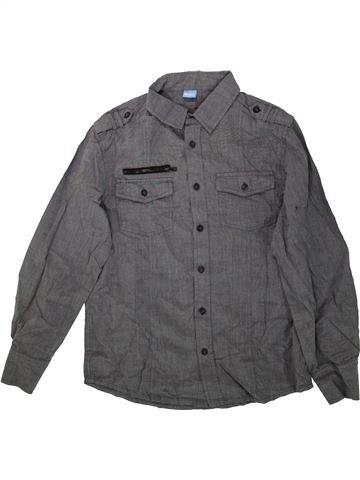 Chemise manches longues garçon KIDS gris 12 ans hiver #1482461_1
