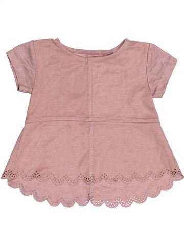 T-shirt manches courtes fille RIVER ISLAND rose 6 mois hiver #1482802_1
