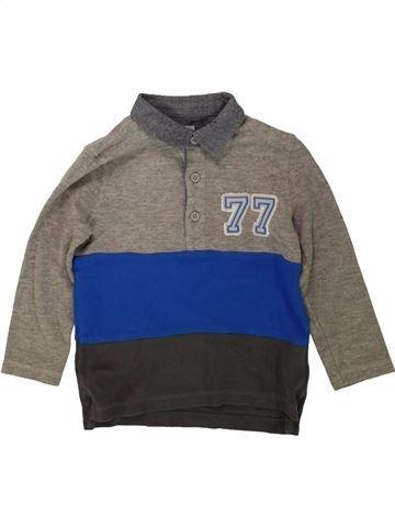 Polo manches longues garçon F&F gris 4 ans hiver #1482991_1