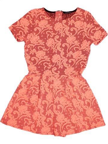 Combinaison courte fille MATALAN orange 15 ans été #1484144_1