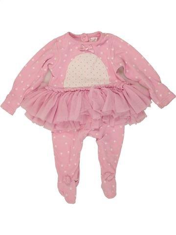 Pyjama 1 pièce fille M&CO rose 6 mois été #1484186_1