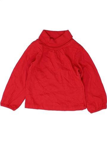 T-shirt col roulé fille DUNNES STORES rouge 9 mois hiver #1484953_1